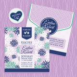 Floral wedding card Royalty Free Stock Image