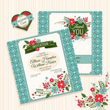 Floral wedding card Stock Image