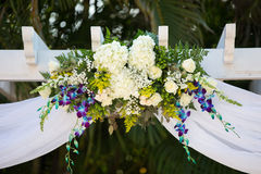 Floral wedding decorations Royalty Free Stock Photography