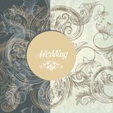 Floral wedding greeting card stock illustration