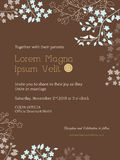 Floral wedding invitation card template. Cute floral wedding invitation card template Royalty Free Stock Image