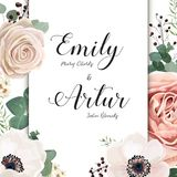 Floral Wedding Invitation elegant invite card vector Design: gar Royalty Free Stock Photo