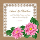 Floral wedding invitation Stock Images