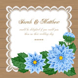 Floral wedding invitation Royalty Free Stock Photography