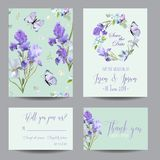Floral Wedding Invitation Template Greeting Card Royalty Free Stock Photography