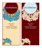 Floral wedding invitations Royalty Free Stock Photography