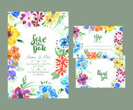 Floral wedding set Royalty Free Stock Images