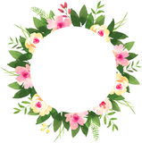 Floral wedding wreath with roses. Royalty Free Stock Photos