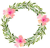 Floral wedding wreath with roses. Stock Photography