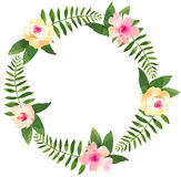 Floral wedding wreath with roses. Royalty Free Stock Photography