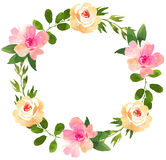 Floral wedding wreath with roses. Stock Images
