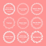 Floral wedding wreaths Royalty Free Stock Images