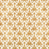 FLORAL WHITE PATTERN IN GRUNGE YELLOW BACKGROUND Royalty Free Stock Photography