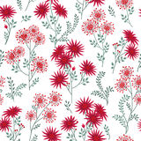 Floral white winter pattern. Leaves and flowers. Nature Herb bac Royalty Free Stock Photography