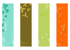 Floral wide skyscraper banners set. Royalty Free Stock Photo