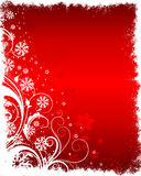 Floral winter background Royalty Free Stock Image