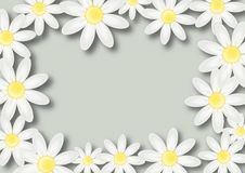 Floral wish background with flowers and place for text Royalty Free Stock Images