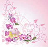 Floral woman background stock illustration