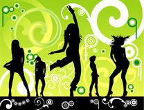 Floral women dancing Stock Photography