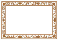 Floral wood carving border Royalty Free Stock Photos