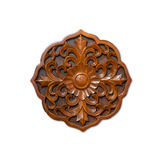 Floral wood carving Royalty Free Stock Images
