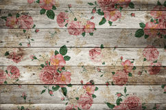 Floral Wood. Wood and flowers, very delicate Stock Photography