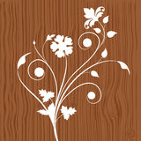 Floral wooden background Royalty Free Stock Photo