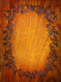 Floral wooden frame Royalty Free Stock Image