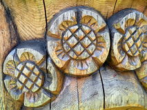 Floral wooden surface Royalty Free Stock Images