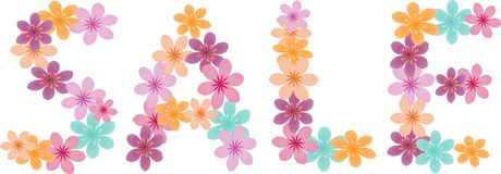Floral word Stock Images
