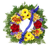 Floral Wreath. Isolated with clipping path Royalty Free Stock Image
