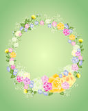 Floral wreath Stock Images
