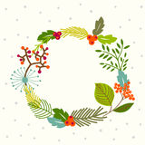 Floral wreath background Royalty Free Stock Photography