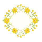 Floral wreath background Stock Photo