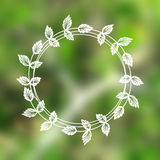 Floral wreath on blurred background Royalty Free Stock Images