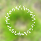 Floral wreath on blurred background Stock Photos