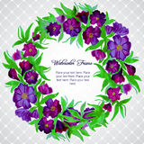 Floral wreath of branch with flowers Stock Photos
