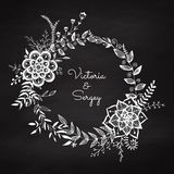 Floral wreath. Royalty Free Stock Image