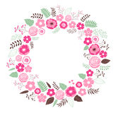 Floral wreath Royalty Free Stock Images