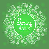 Floral wreath. Concept design spring sale for Women`s Day. March 8. Happy Easter Stock Image
