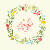 Floral wreath royalty free illustration