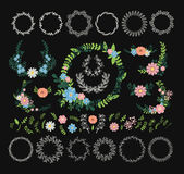 Floral wreath decoration Stock Image