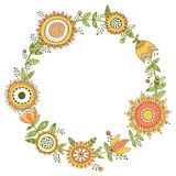 Floral wreath, decorative frame Stock Image