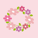 Floral wreath Royalty Free Stock Image