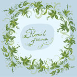 Floral wreath frame eco Royalty Free Stock Image
