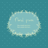 Floral wreath frame for text Stock Photos