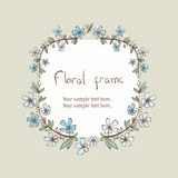 Floral wreath frame for text Stock Image