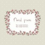 Floral wreath frame for text Royalty Free Stock Photo