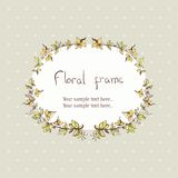 Floral wreath frame for text Royalty Free Stock Images