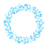Floral wreath.Garland with blue flower. Stock Photos